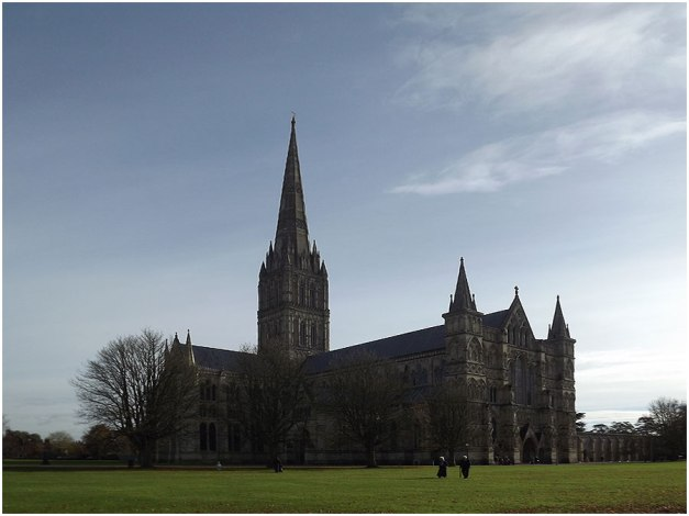 The magnificent Salisbury Cathedral; I was in awe of this beautiful architecture!