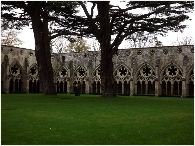 The cloisters...