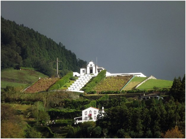 Ermida de Nossa Senhora da Paz (The Chapel of Our Lady of Peace) is located on top of the Mount of Our Lady of Peace.