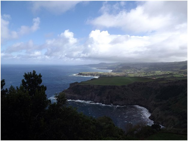 The north coast of São Miguel, facing east.
